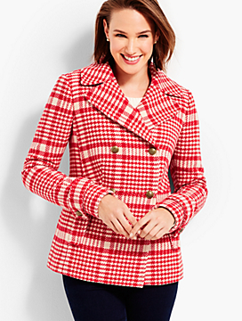Trail Plaid Peacoat