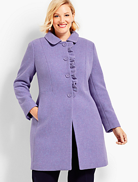 Albury Wool Ruffle Coat