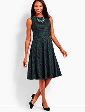 Tartan Plaid Fit & Flare Dress