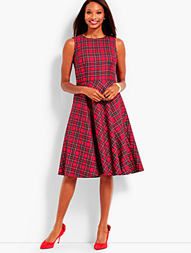 Plaid Fit & Flare Dress