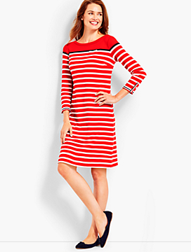 Breton Stripe Interlock Dress