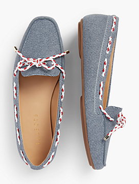 Becca Moccasins - Sueded Denim