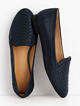Ryan Leather Loafers-Chevron-Quilted