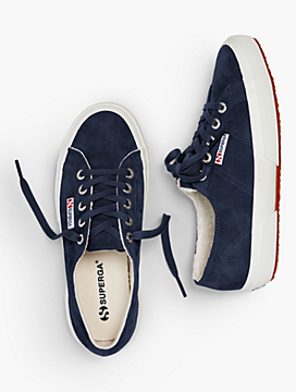 Superga(R) Sneakers - Shearling-Lined Suede