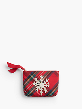 Plaid Mini Snowflake Pouch