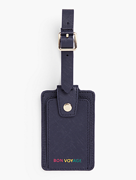 Print Saffiano Luggage Tag