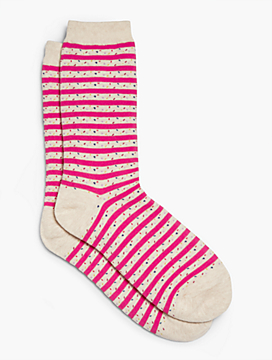 Confetti Stripe Trouser Sock