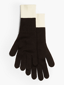 Colorblocked Knit Glove