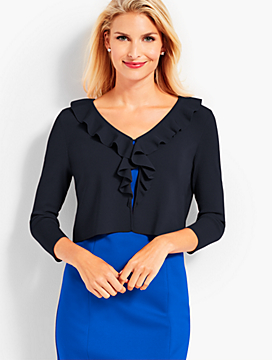 Ruffle-Front Dress Shrug