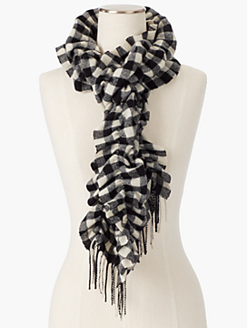Cashmere Buffalo Check Scrunch Wrap