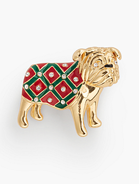 Bulldog Brooch