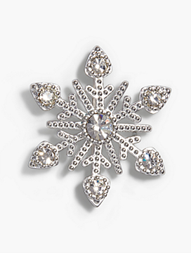 Sterling Silver Snowflake Pin