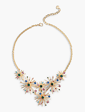 Snowflake Burst Bib Necklace