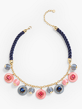 Thread-Wrap Statement Necklace