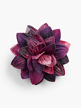 Pink/Purple Plaid Corsage Pin