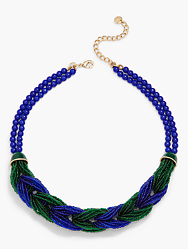 Braided Seed-Bead Torsade Necklace