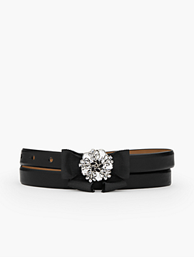 Bejeweled Bow-Buckle Belt