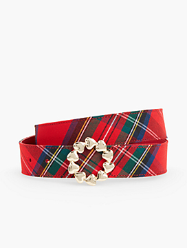 Reversible Plaid Belt