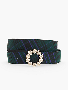 Reversible Adele Plaid Belt
