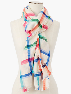 Yarn-Dyed Multi-Check Scarf