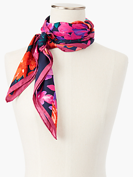 Tumbling Bouquet Silk Scarf
