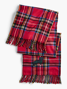 Fringed Tartan Plaid Pup Blanket