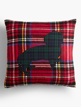 Plaid Pup Pillow