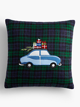 Plaid Car Pillow