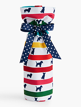 Dogs & Stripes Wine Bag