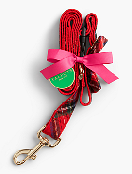 Plaid Leash & Collar Set