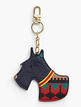 Scottie Dog Leather Keychain