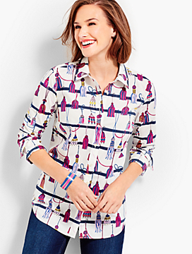 The Classic Cotton Shirt - Tassel Print