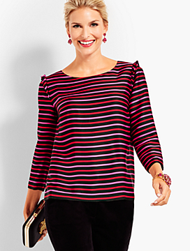 Silky Twill Top - Stripes