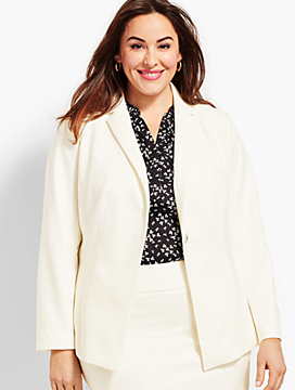 Luxe Italian Double-Cloth Blazer