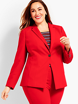 Luxe Double-Cloth Blazer