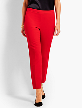 Luxe Double-Cloth Slim Ankle Pant