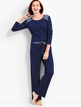 Dots & Stripe-Detailed PJ Set