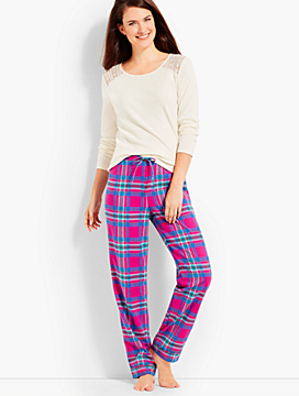 Pink Plaid PJ Set