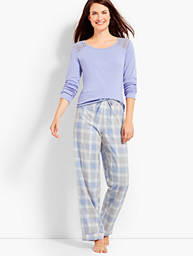 Shimmer Plaid PJ Set