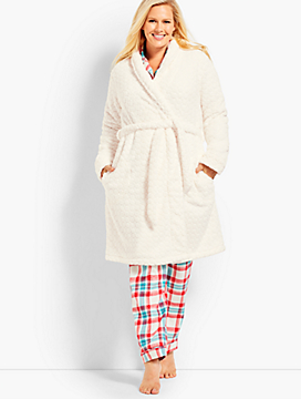 Womans Exclusive Circle Textured Robe