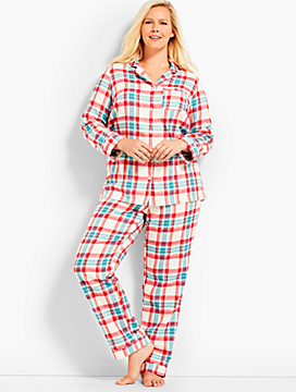 Womans Exclusive Classic Plaid Sleep Set