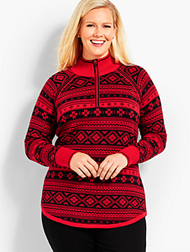 Thermolite® Fair Isle Half-Zip Sweater