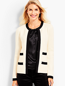 Grosgrain-Trim Jacket