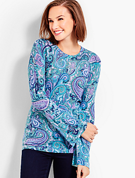 Vineyard Paisley Merino Sweater
