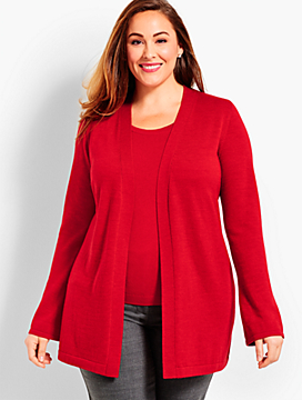 Womans Exclusive Merino No-Close Cardigan