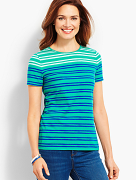 Painterly Stripe Crewneck Tee