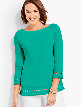 Pima Cotton Fringed Top