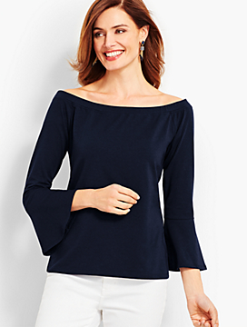 Off-The-Shoulder Flared Top