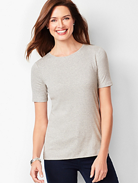 Heathered Crewneck Tee