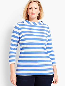 Womans Exclusive Audrey Stripe Tee